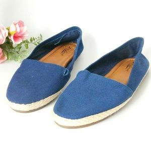 Lucky Brand Canvas Espadrilles Loafer Flats 8.5